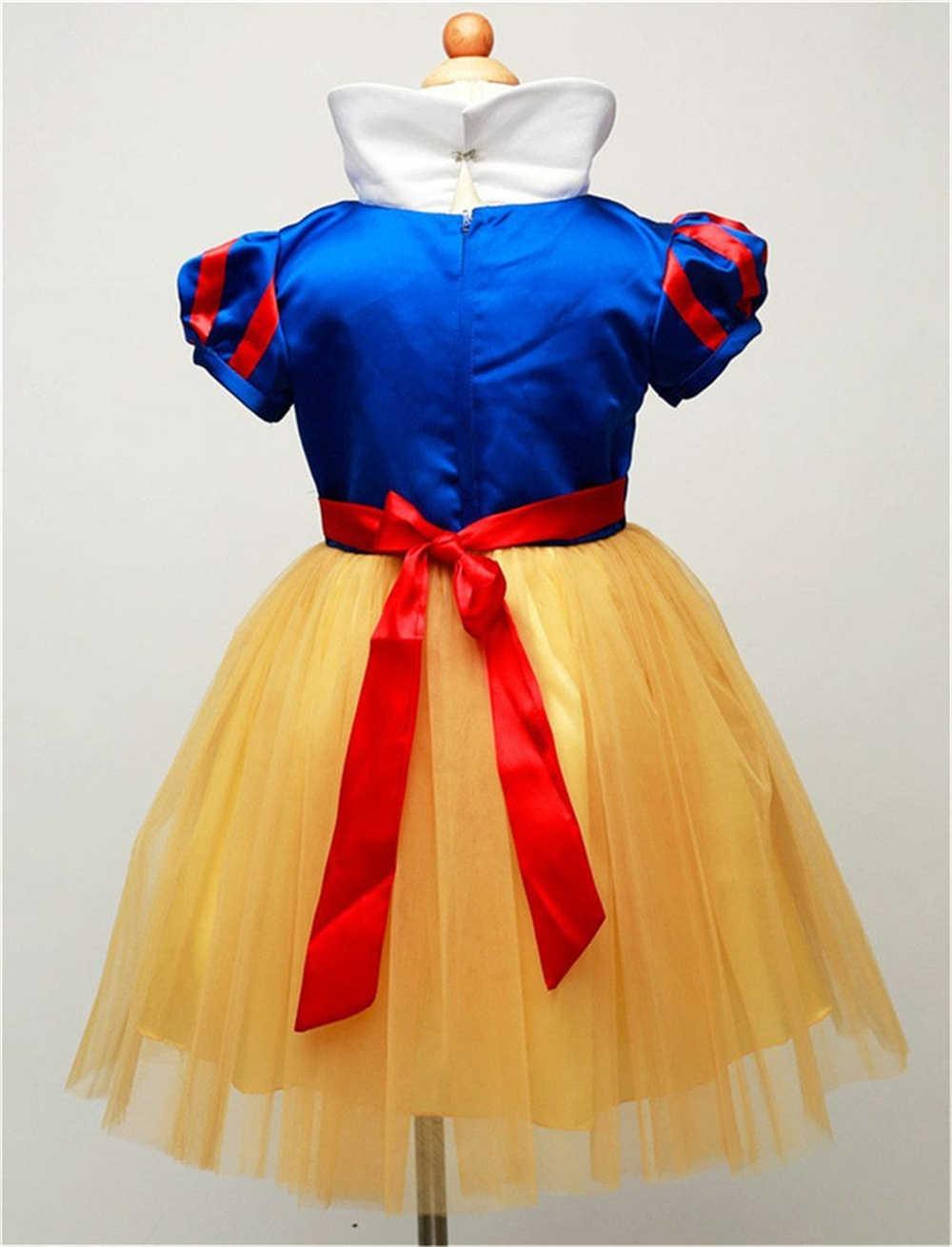Crianças neve branco traje para crianças infantil vestido de baile elegante meninas tule princesa vestidos de festa roupas do bebê menina deguisement