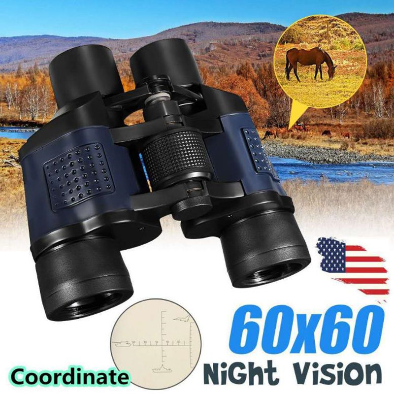 Binoculars For Hunting Telescope Waterproof Tourism BAK4 HD Long Zoom Eyepiece All Vision For Camping Tools