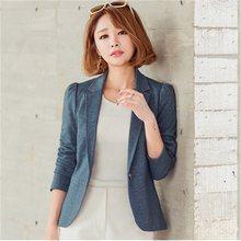 Mujer primavera otoño pequeña chaqueta nuevo estilo de manga larga párrafo  corto traje chaqueta delgada ocasional traje de gran . 3ad67c19c364