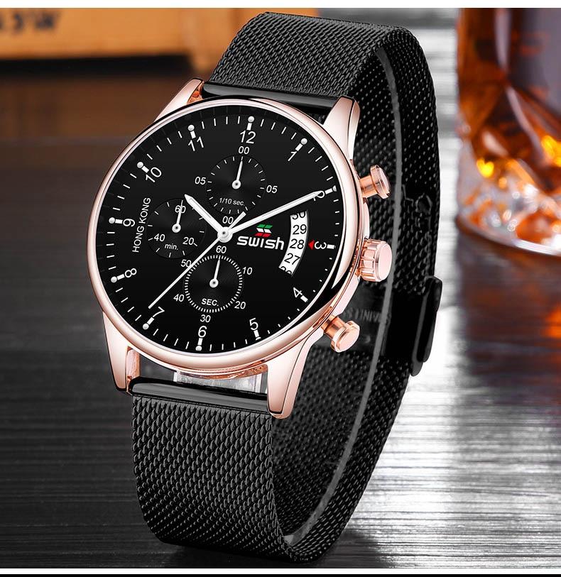 HTB1RklgUFzqK1RjSZFoq6zfcXXa3 SWISH 2019 Top Brand Luxury Mens Watches Waterproof Stainless Steel Wristwatch Mens Chronograph Casual Quartz Watch
