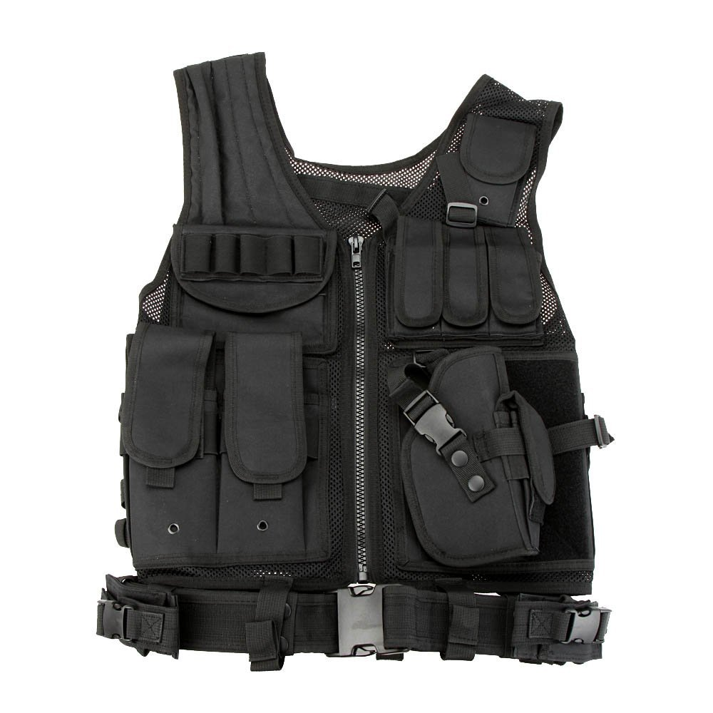 SAF Military Tactical Army Polyester Airsoft War Game Vest for C amping H iking