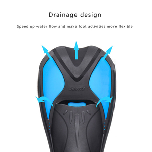 Image 4 - Snorkeling Diving Swimming Fins Adult/kids Flexible Comfort Swimming Fins Submersible Foot Children Fins Flippers Water Sports
