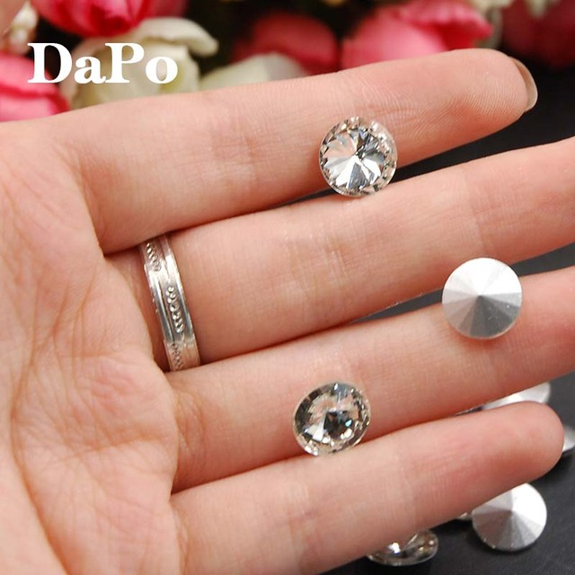 Hot Sale All Sizes Crystal Clear Color Point Back Glass Rivoli Crystal  Fancy Stone 8mm 05d7e0d5147b