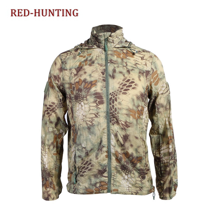 Audacious Outdoor Elastic Mens Breathable Clothes Summer Uv-proof Tactical Skin Coat Typhon Camouflage Wrench