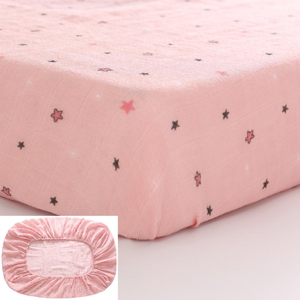 1 Pcs/Set Newborn Bed Sheets 100% Cotton Unicorn Print Bed Mattress Cover For Baby Girl Boys 130x70cm Baby Bedding Set
