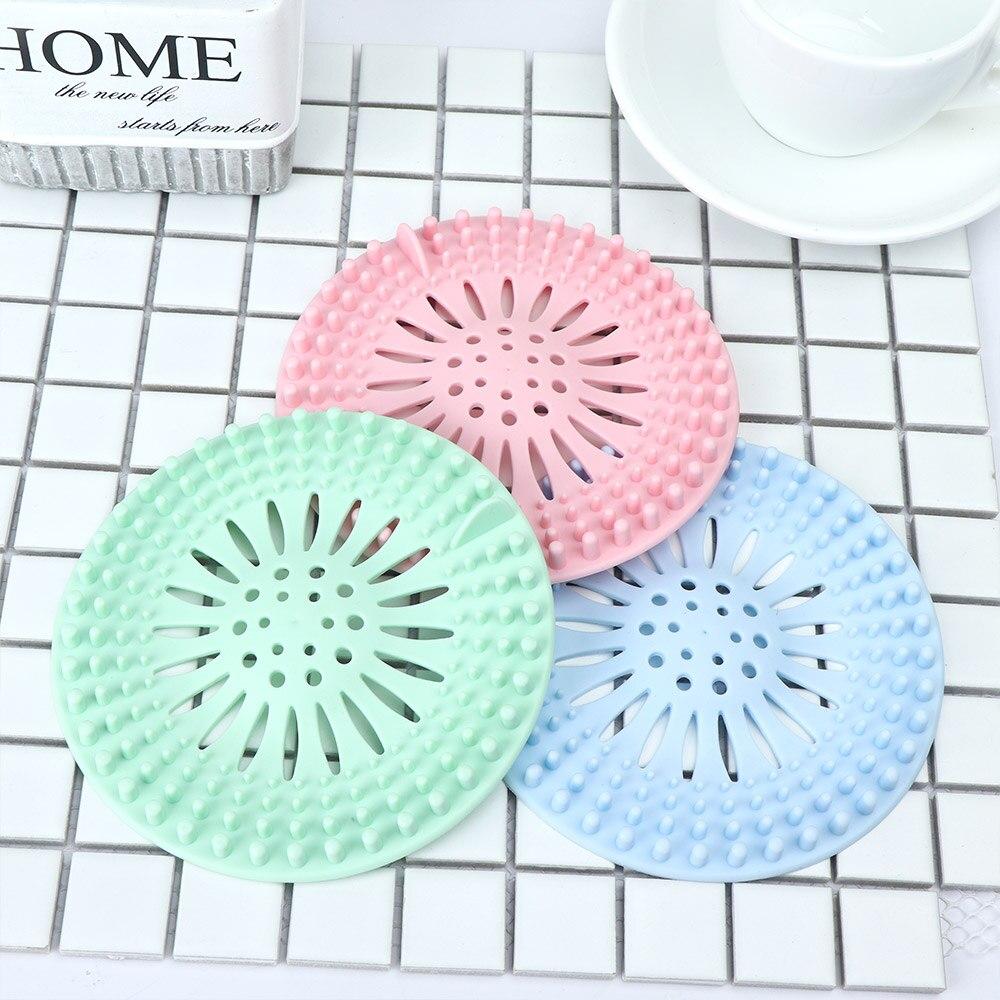 Silicone Kitchen Sink Strainer Filter Bathroom Shower Drain Cover Hair Catcher