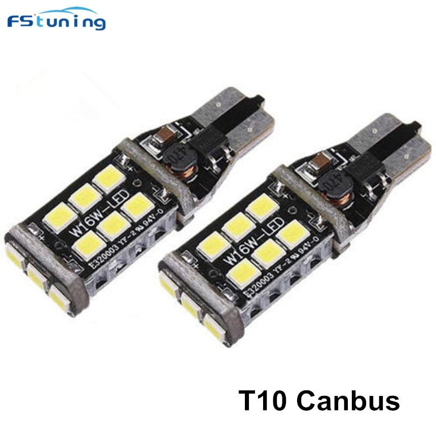 FSTUNING Canbus T10 W5W 15 LED Car Clearance Lights Parking light For VW POLO Golf 7 GTI Passat B6 B7 B5 Jetta Bora MK5 MK6