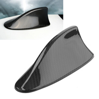 Black Real Carbon Fiber Shark Fin Antenna Cover Cap Trim For BMW M5 2012 2014 & F01 F02 2009 2014 / F10 F11 F18 2011 2017