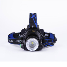 XML-T6 Zoomable Head Light Lamp Rechargeable LED Headlight  Headlamp 3-Modes 2000LM Head Lantern Use 18650 for Camping Cycling