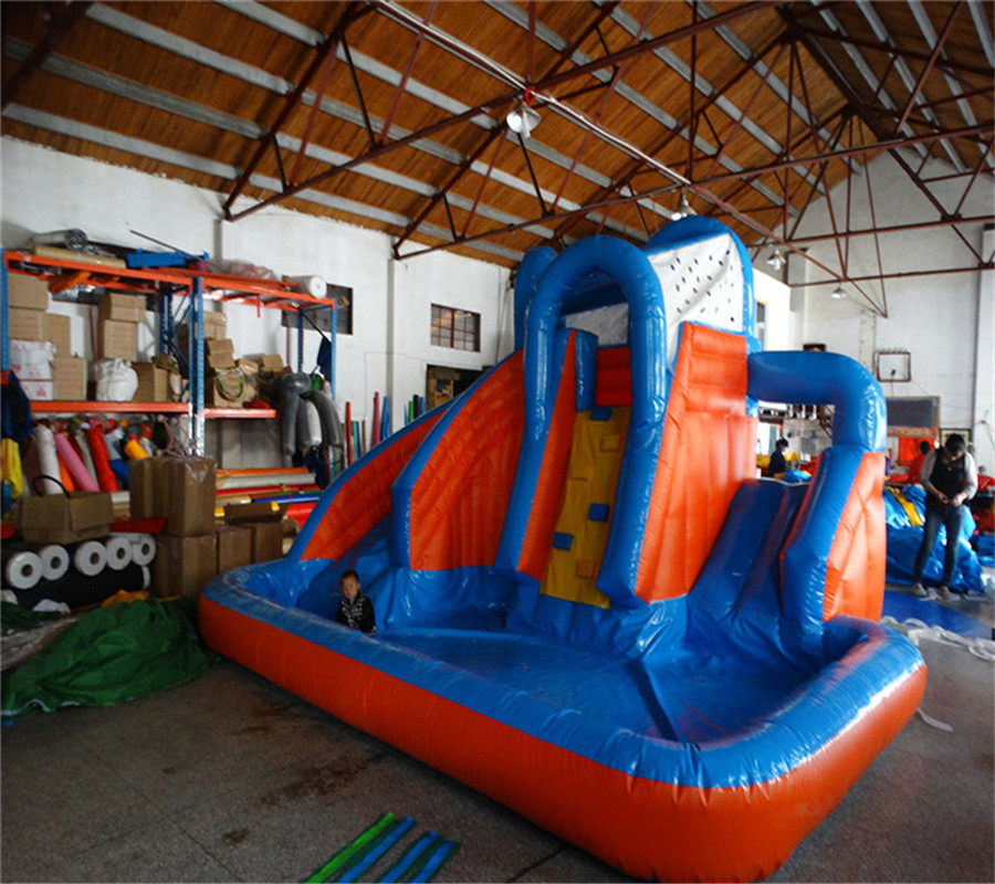 Factory high quality inflatable bouncer jumping giant with water slide inflatable pool for kids and adult