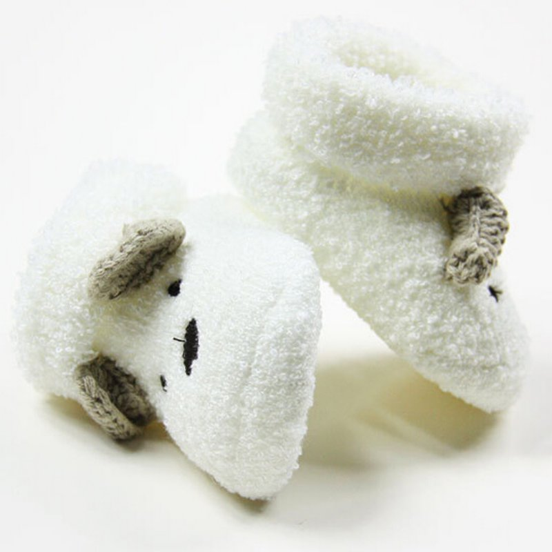 Unisex New Born Baby Boy Girls Infant Cute Bear Crib Warm Shoe Toddler Toddler Socks Sapatos