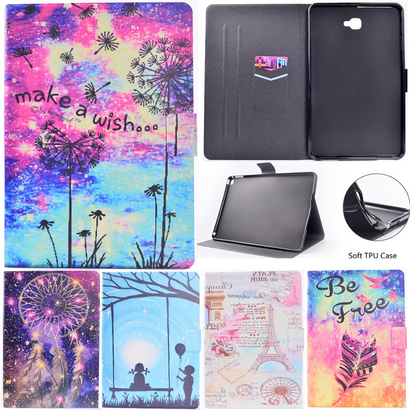 Wekays Case For Samsung Tab A6 Stand Flip Fundas Case For Coque Samsung Galaxy Tab A A6 2016 10.1 T585 T580 T580N Tablet Cover
