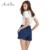 ArtSu Plus Size Verão Cintura Alta Jeans Curto Mulher Denim Shorts Feminino Fêmea Solta Casuais Mulheres Sexy jean Shorts ASSH50005