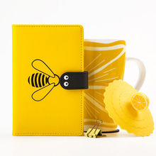 Kawaii Notebook 2019 Agenda Bee A6 Annual Monthly Weekly Planner Diary Travel Journal Book Organizer School Office Cute Gifts стоимость