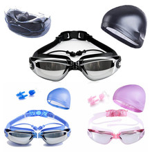 542dad3a6c 3pcs set Myopia Swimming Goggles HD Shortsighted Swimming Glasses  Prescription Anti-Fog UV Swim