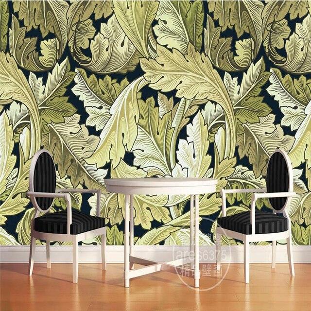Beibehang Pluie Foret Mur Vegetal Papier 3d Murale Decor Image Tv