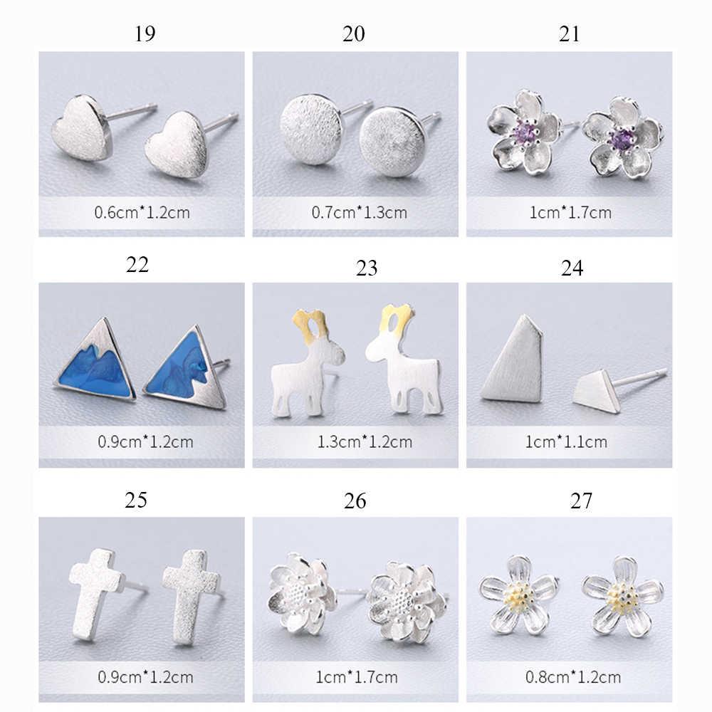 XIYANIKE 925 スターリングシルバー耳針シンプルなファッションジオメトリスタッドピアスパーソナリティ洗練イヤリング女性ジュエリー 19-36