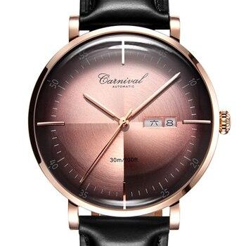 278d7bb0 Product Offer. Новый Японии MIYOTA автоматическое механическое движение  часы карнавал Элитный бренд ...