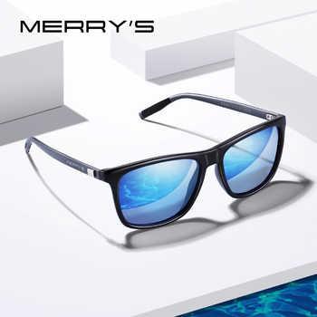MERRYS DESIGN Men Women Classic Square Polarized Sunglasses Aluminum Legs Lighter Design UV400 Protection S8286 - DISCOUNT ITEM  40 OFF Apparel Accessories