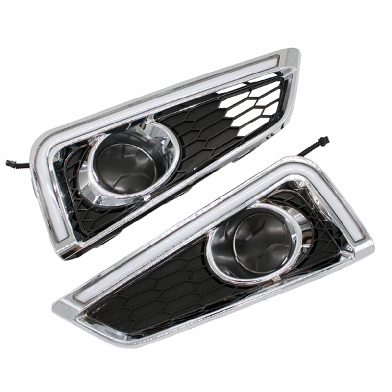 Super Bright LED Daytime Running Light for City 2015 2016 LED Car DRL Car Styling Fog Lamp with Turn Signal newest car styling super bright led drl daytime running light fog lamp cover with turn signal for hyundai elantra 2016 2017