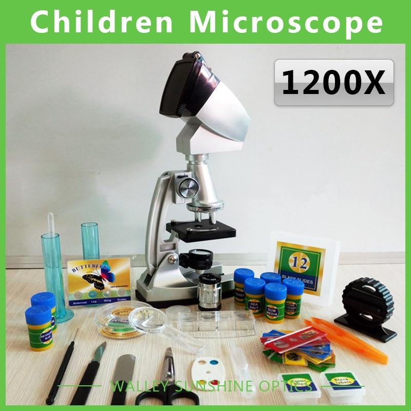 ФОТО Educational Biological Microscope 100x 400x 1200x Microscope with Illuminator Students Toy Children Microscope with Projector