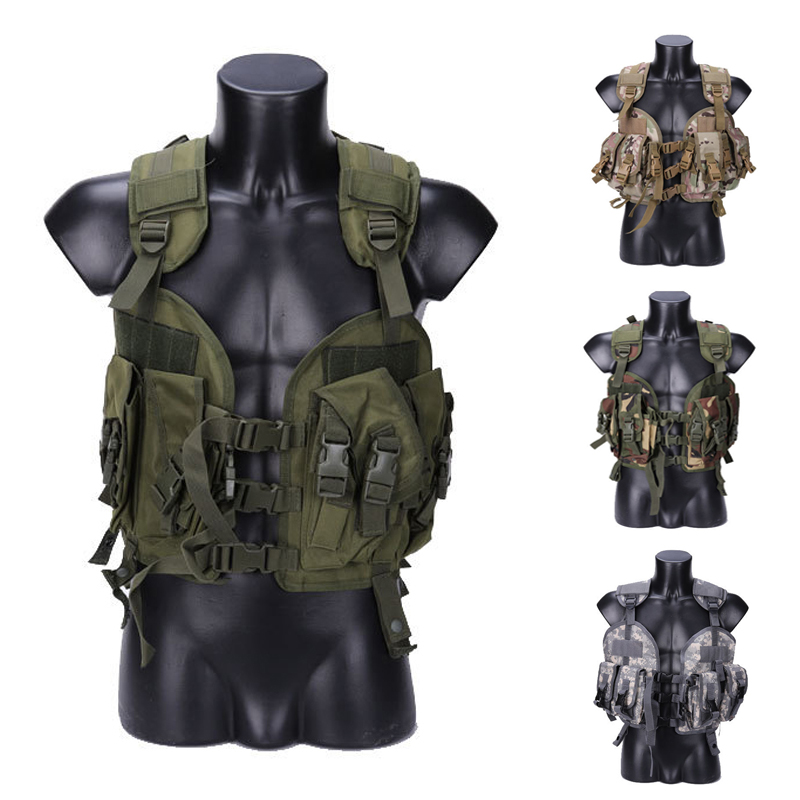 Army Traning Combat Protection Tactical Vest Outdoor Military Hunting Airsoft Paintball CS Sport Vests 5 Colors