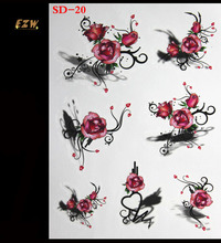 Hottest 3 D Temporary Tattoos Tattoo Colorful Waterproof Paper Human Art Of Female Or Male Body