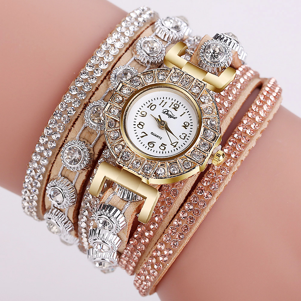 2018 Watch Women Bracelet Ladies Watch With Rhinestones Clock Womens Vintage Fashion Dress Wristwatch Relogio Feminino Gift
