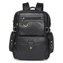 Hot Sale Cowboy Vintage Leather Travel Backpack Bookbag Schoolbag Hiking Luggage Bag # 7042Q
