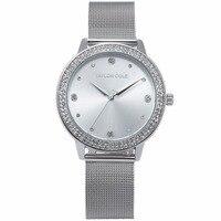 Taylor Cole Merk Fashion Horloges Vrouwen Luxe Ronde Zilveren Crystal Horloges Dames Jurk Chain Quartz Horloge Klok/TC070