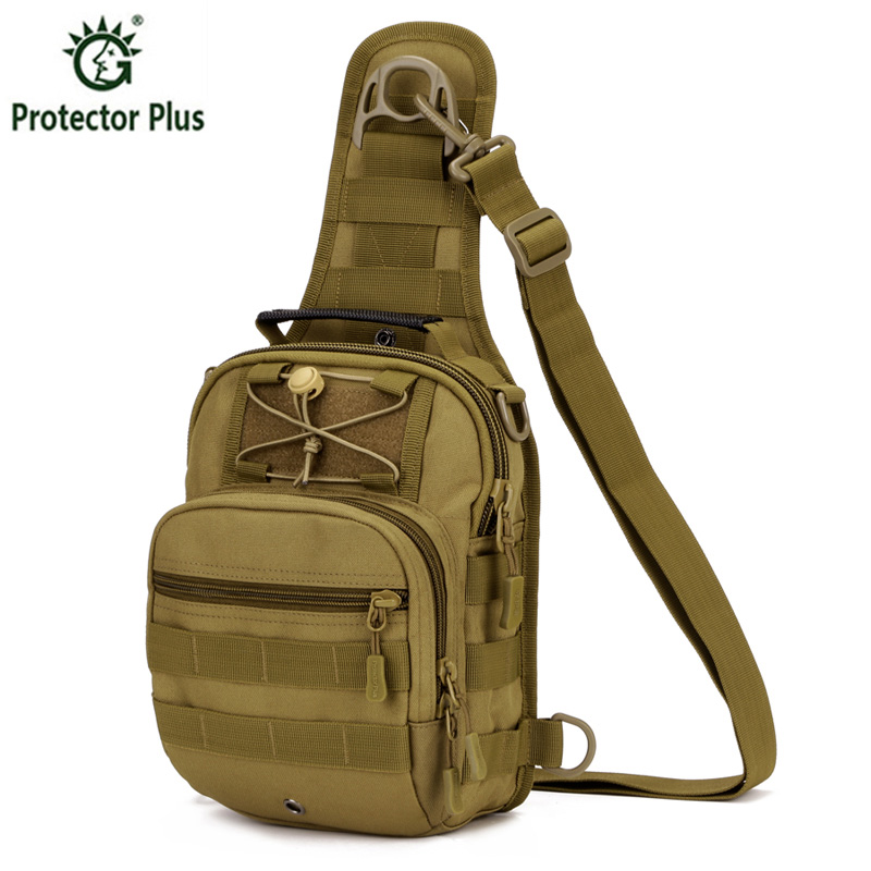 Tactics Gear Combo Bundle, Size Large Military Outdoors Men Chest Pack + 3 Molle Small Pouches,4 Pieces Tactics Combo Bag