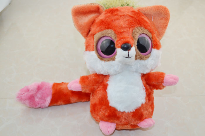 """Honesty Free Shipping Yoohoo Friends Stuffed Plush Toy (red Fox) - 8"""" Ruby,big Eyes Cute Animal Gift Toy,fabric Stuffed Soft Toy Rich And Magnificent"""