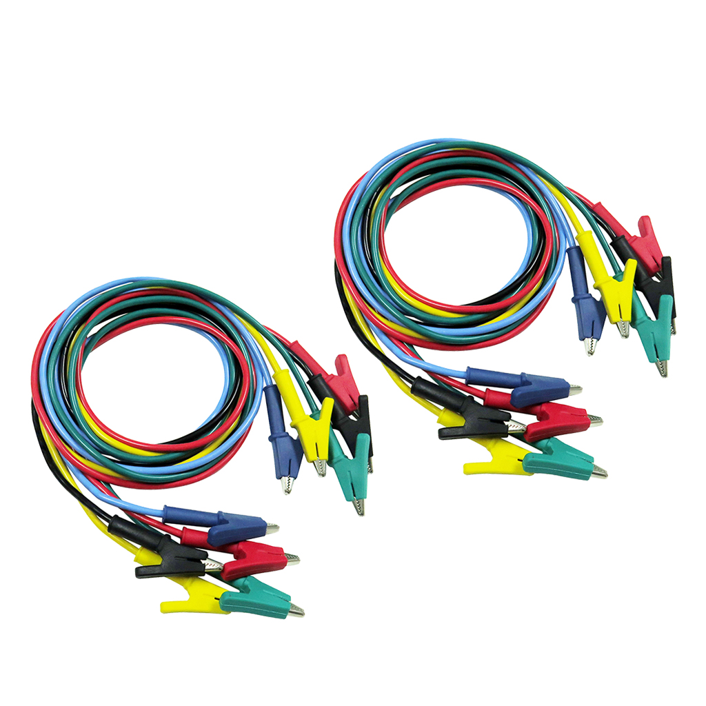 10 Pieces Insulated Alligator Clip Test Cable Leads Double ended Crocodile Clips Test Jumper Wire