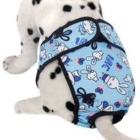 New Fashion Lovely Cartoon Pattern Big Dog Anti Harassment Pants Pet Menstruation Underwear Female Pet Pant