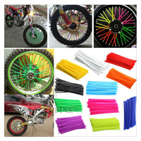 Colorful Florescent Motorcycle Wheel Rim Cover Spoke Skins Wrap Tubes Universal For Dirt Bike ATV Quad