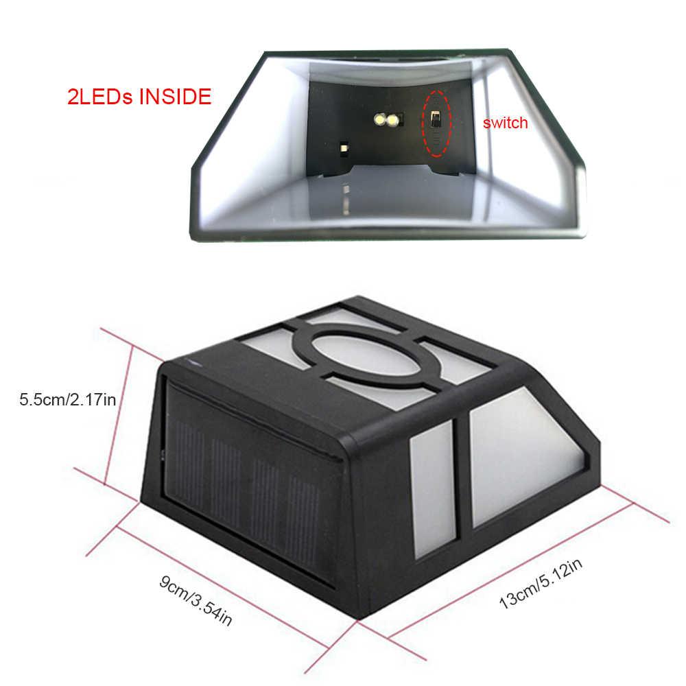 4 шт светодиодный солнечный свет 2/6 светодиодный s водонепроницаемый IP55 датчик легкий наружный светильник путь коридор настенная лампа, точечное освещение светодиодный солнечный светильник