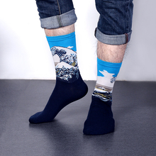 1 Pair New Vintage Retro Unisex Famous Painting Art Socks Novelty Funny Novelty For Men Women