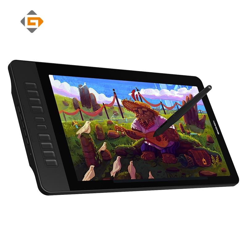 GAOMON PD1560 IPS 1920x1080 LCD pluma pantalla 8192 niveles tableta gráfica para dibujo con pantalla de arte y guante para computadora monitor