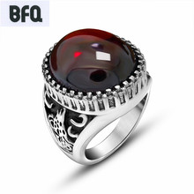 BFQ Retro red black rings for men vintage animal stainless steel rings punk nice men jewelry aneis feminino anillo bague