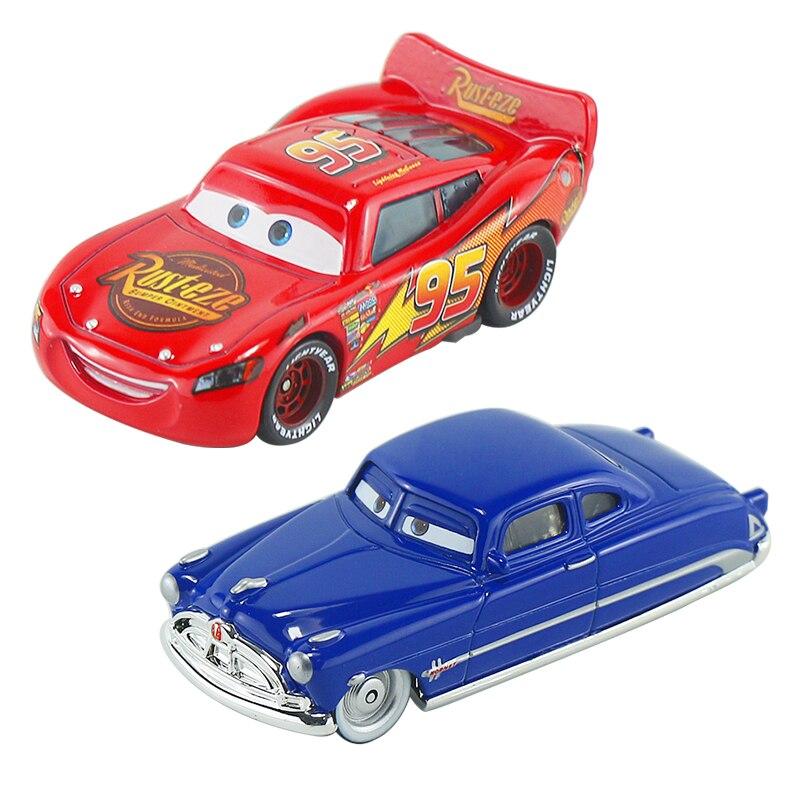 Disney Pixar Cars 1 Lightning McQueen fabuloso Doc Hudson Homet 1:55 juguetes de Metal fundido modelo coche Regalo de Cumpleaños juguete para chico Disney Pixar coches 3 señorita Fritter Cal Jackson tormenta Dinoco Cruz Ramírez 1:55 Diecast Metal de juguetes modelo de coche regalo de cumpleaños para niños