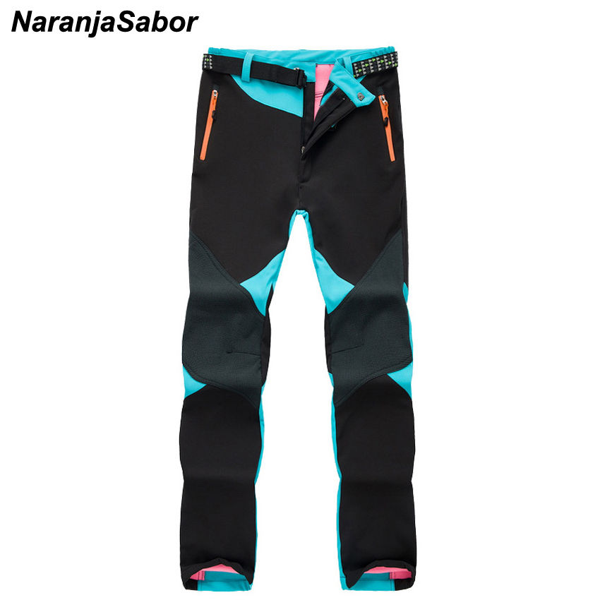 NaranjaSabor New Women's Winter Pants Waterproof Thermal Windproof Female Fleece Thick Patchwork Trousers Womens Brand Clothing