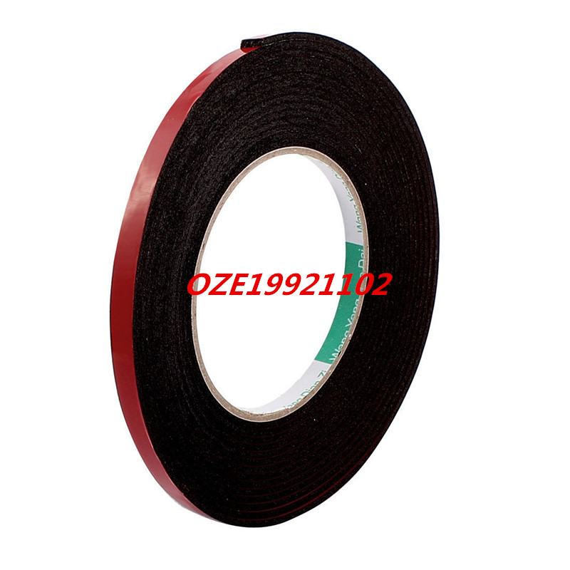 8mmx2mm Red Double Sided Sponge Tape Adhesive Sticker Foam Glue Strip Sealing 5M 2pcs 2 5x 1cm single sided self adhesive shockproof sponge foam tape 2m length