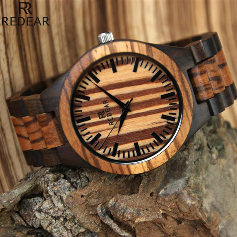 REDEAR908 font b all b font bamboo material luxury men s font b watch b font