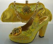 ME2201รองเท้าผู้หญิงและถุงเพื่อให้ตรงกับขนาดของอิตาลี38-42สีเหลืองสำหรับจัดส่งฟรี,จับคู่รองเท้าและกระเป๋าสำหรับสูงquality.