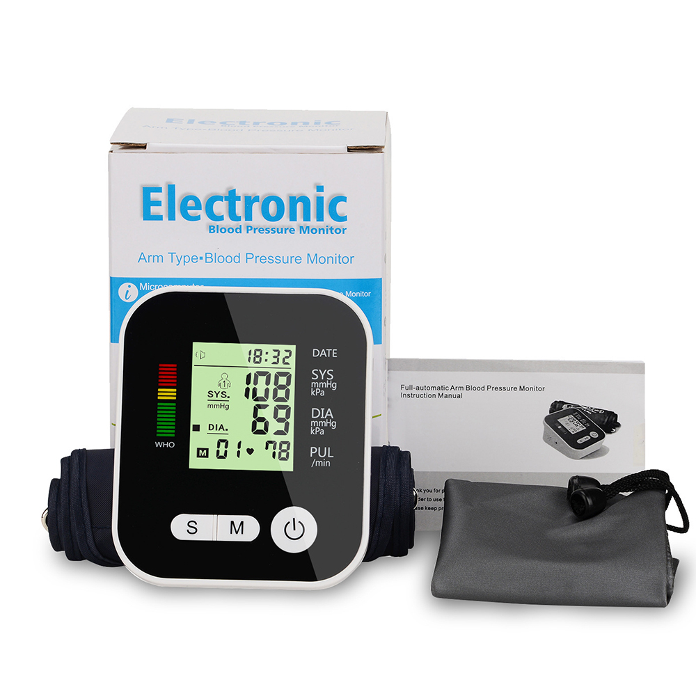 Digital Blood Pressure Monitor Medical Equipment Tonometer Health Automatic Upper Arm Pulse Oximeter Home LCD Screen Memory ModeDigital Blood Pressure Monitor Medical Equipment Tonometer Health Automatic Upper Arm Pulse Oximeter Home LCD Screen Memory Mode