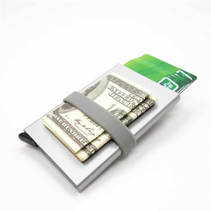 Кошелек из алюминиевого сплава, визитница, противоугонная антищетка, кредитная карта, RFID, противомагнитный коробка для визиток