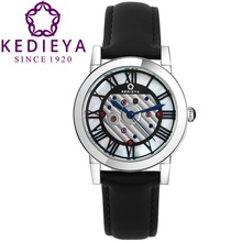 KEDIEYA Brand Switzerland Ronda Movement Genuine Leather Waterproof Roma Design Sapphire Crystal Women Ladies Watches Rose Gold