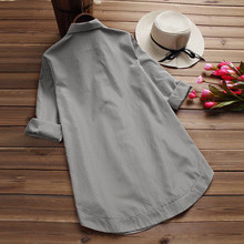 Plus Size 5XL Womens Tops and Long Sleeve Blouses 2018 Streetwear Button V Neck Long Shirts Tunic Ladies Top Womens Clothing