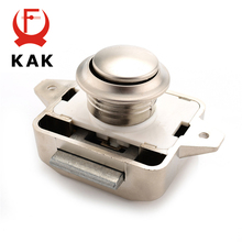 10PCS KAK Camper Car Push Lock 26mm RV Caravan Boat Motor Home Cabinet Drawer Latch Button Locks For Furniture Hardware