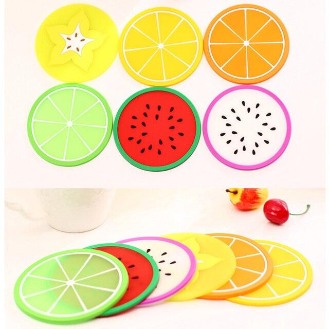 1 pcs Hot Coaster Forma di Frutta della Tazza Del Silicone Pad Antiscivolo Pad d